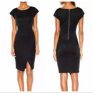 Bar III Ribbed Envelope Dress Deep Black X-Large